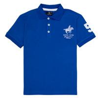 Îmbracaminte Băieți Tricou Polo mânecă scurtă Geographical Norway KAMPAI Albastru