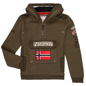 Îmbracaminte Băieți Hanorace  Geographical Norway GYMCLASS Kaki