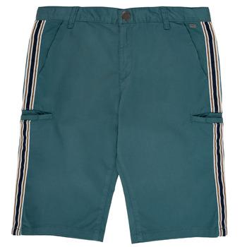 Îmbracaminte Băieți Pantaloni scurti și Bermuda Ikks MANUELA Albastru / Verde