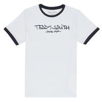 Îmbracaminte Băieți Tricouri mânecă scurtă Teddy Smith TICLASS 3 Alb