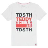 Îmbracaminte Băieți Tricouri mânecă scurtă Teddy Smith DUSTIN Alb