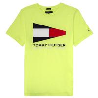 Îmbracaminte Băieți Tricouri mânecă scurtă Tommy Hilfiger  Galben