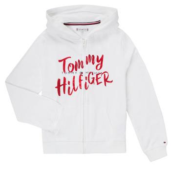 Îmbracaminte Fete Hanorace  Tommy Hilfiger KG0KG05043 Alb