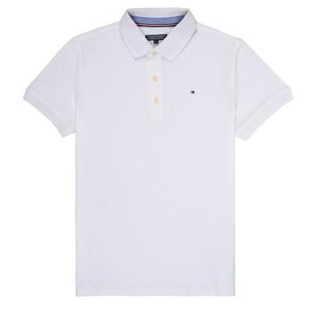 Îmbracaminte Băieți Tricou Polo mânecă scurtă Tommy Hilfiger KB0KB03975 Alb