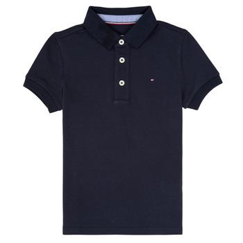 Îmbracaminte Băieți Tricou Polo mânecă scurtă Tommy Hilfiger  Bleumarin