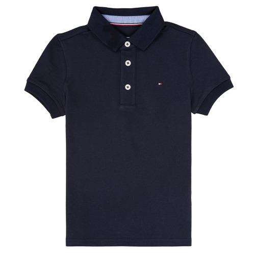 Îmbracaminte Băieți Tricou Polo mânecă scurtă Tommy Hilfiger KB0KB03975 Bleumarin