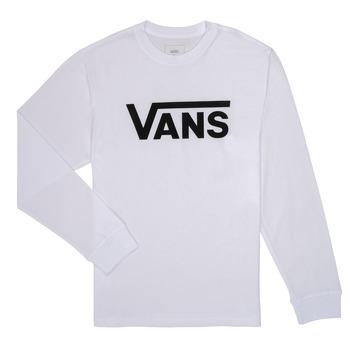 Îmbracaminte Băieți Tricouri cu mânecă lungă  Vans BY VANS CLASSIC LS Alb