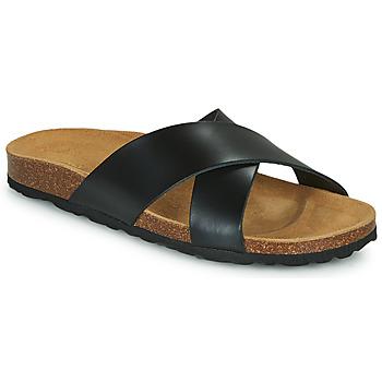 Pantofi Femei Papuci de vară Only MADISON CROSS LEATHER Negru