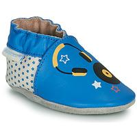 Pantofi Copii Papuci de casă Robeez MUSIC SOUND Albastru / Bej