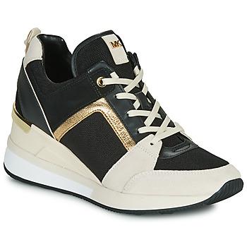 Pantofi Femei Pantofi sport Casual MICHAEL Michael Kors GEORGIE Negru / Bej / Auriu