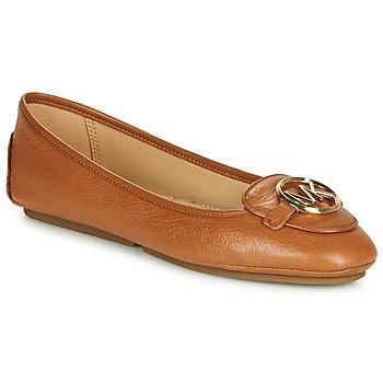 Pantofi Femei Balerin și Balerini cu curea MICHAEL Michael Kors LILLIE Coniac