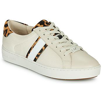 Pantofi Femei Pantofi sport Casual MICHAEL Michael Kors IRVING STRIPE LACE UP Ecru / Leopard