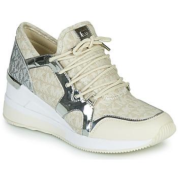 Pantofi Femei Pantofi sport Casual MICHAEL Michael Kors LIV TRAINER Bej / Argintiu