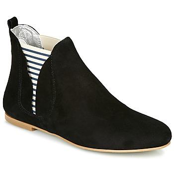Pantofi Femei Ghete Ippon Vintage PATCH FLYBOAT Negru