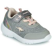 Pantofi Fete Pantofi sport Casual Kangaroos KY-Citylite EV Gri / Roz