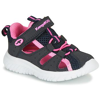Pantofi Fete Sandale și Sandale cu talpă  joasă Kangaroos KI-Rock Lite EV Albastru / Roz