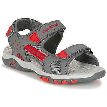 Pantofi Copii Sandale  Kangaroos K-CELTIC Gri / Portocaliu
