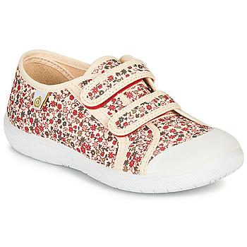 Pantofi Fete Pantofi sport Casual Citrouille et Compagnie GLASSIA Ecru / Multicolor