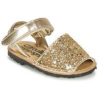 Pantofi Fete Sandale  Citrouille et Compagnie SQUOUBEL Auriu