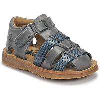 Pantofi Băieți Sandale  Citrouille et Compagnie MISTIGRI Gri / Albastru