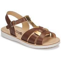 Pantofi Fete Sandale  Citrouille et Compagnie MINOTTE Maro / Auriu