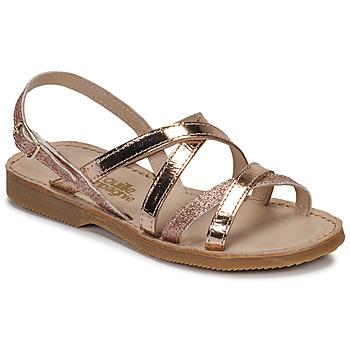 Pantofi Fete Sandale  Citrouille et Compagnie GENTOU Bronz / Glitter