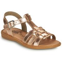 Pantofi Fete Sandale  Citrouille et Compagnie ROLUI Bronz