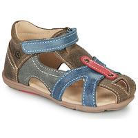 Pantofi Băieți Sandale  Citrouille et Compagnie MARIOL Gri / Albastru