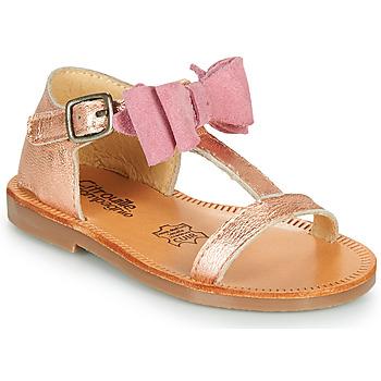 Pantofi Fete Sandale  Citrouille et Compagnie MELINDA Argintiu