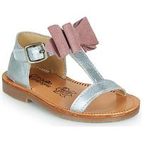 Pantofi Fete Sandale  Citrouille et Compagnie MELINDA Roz / Gold