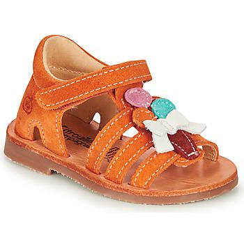Pantofi Fete Sandale  Citrouille et Compagnie MIETTE Portocaliu