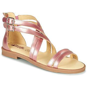 Pantofi Fete Sandale  Citrouille et Compagnie IMOURAT Roz / Gold