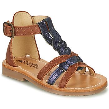Pantofi Fete Sandale  Citrouille et Compagnie GITANOLO Albastru / Camel