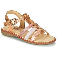 Pantofi Fete Sandale  Citrouille et Compagnie GROUFLA Auriu /  colors / Metalizat / Roz