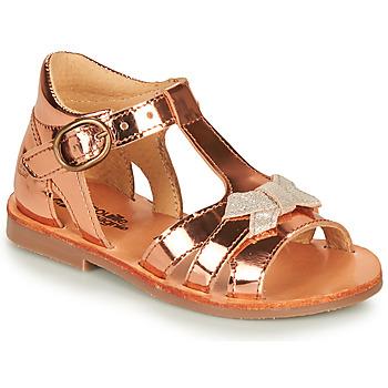 Pantofi Fete Sandale  Citrouille et Compagnie MINIMOME Bronz