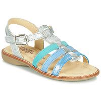 Pantofi Fete Sandale  Citrouille et Compagnie GROUFLA Argintiu / Albastru /  water green