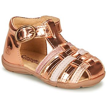 Pantofi Fete Sandale  Citrouille et Compagnie RINE Roz /  metalizat