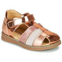 Pantofi Fete Sandale  Citrouille et Compagnie FRINOUI Bronz / Roz