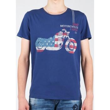 Îmbracaminte Bărbați Tricouri mânecă scurtă Wrangler S/S Biker Flag Tee W7A53FK 1F navy