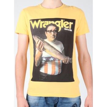 Îmbracaminte Bărbați Tricouri mânecă scurtă Wrangler T-shirt  S/S Graphic T W7931EFNG yellow
