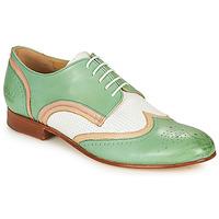 Pantofi Femei Pantofi Derby Melvin & Hamilton SALLY 15 Verde / Alb / Bej