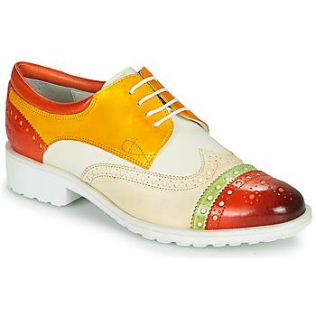 Pantofi Femei Pantofi Derby Melvin & Hamilton AMELIE 85 Alb / Galben / Maro
