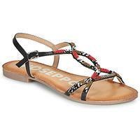 Pantofi Femei Sandale  Gioseppo PARISH Negru / Roșu