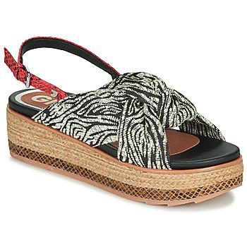 Pantofi Femei Sandale  Gioseppo NEVELE Negru / Roșu