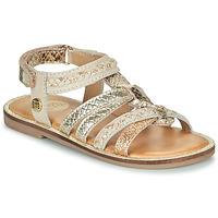 Pantofi Fete Sandale și Sandale cu talpă  joasă Gioseppo PIGNOLA Bej / Auriu