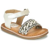 Pantofi Fete Sandale  Gioseppo VARESE Alb / Argintiu