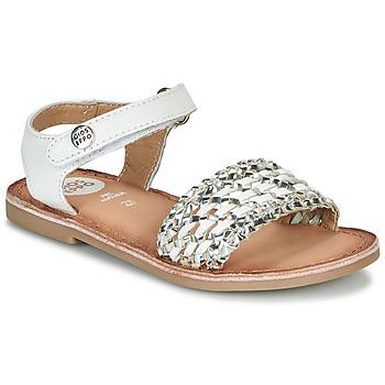 Pantofi Fete Sandale și Sandale cu talpă  joasă Gioseppo VIETRI Alb / Argintiu