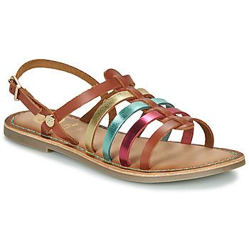 Pantofi Fete Sandale  Gioseppo ETALLE Coniac /  multicolor