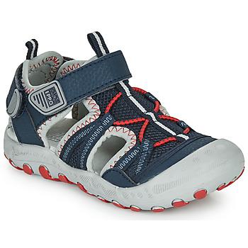 Pantofi Băieți Sandale sport Gioseppo MAZATLAN Albastru / Roșu