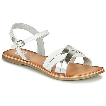 Pantofi Fete Sandale  Gioseppo GISTEL Alb / Argintiu